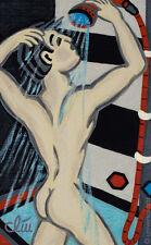 JACQUELINE DITT - Pin Up Boy A4 DRUCK n.Gemälde nude Akt Mann Bilder Giclee art