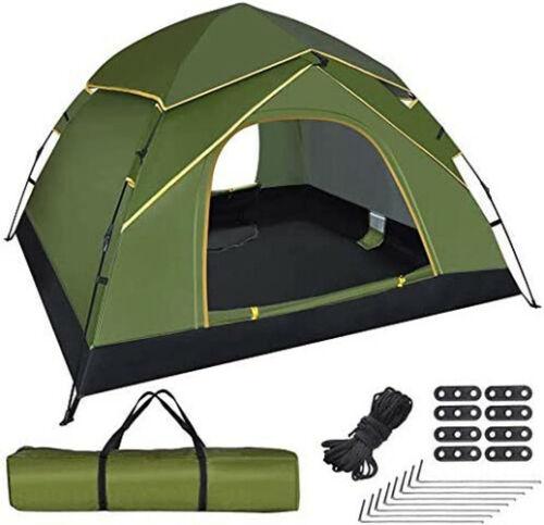 Pop-up Familie Camping Zelt 2-4 Personen, Kuppelzelt Sekundenzelt wasserdicht DE