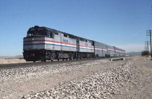 AMTRAK-Railroad-Locomotive-224-Train-LENWOOD-Original-1988-Photo-Slide