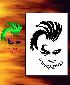 Joker Stencil 01 Stencil Vorlagen Kurbisschnitzereien