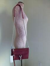 Rebecca Minkoff Mini Mac Red Leather Clutch Crossbody Bag New