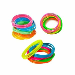 Neon-Jelly-Bracelets-144-Rainbow-Color-Birthday-Party-Favors-Gifts-Toy-Prizes