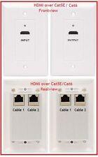 Premium Gold Series HDMI Extender over CAT5E / CAT6 Wallplate (Transmitter / Rec