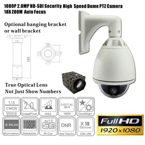 HD-SDI Speed Dome Camera //PTZ//1080p//broadcast//18x optical zoom//IP66