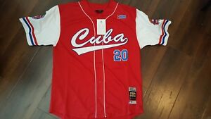 CUBA-baseball-Jersey-Red-Latin-Baseball-Jersey-Negro-Leagues-Baseball-Jersey-L