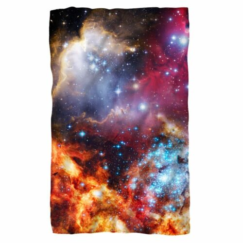 Outer Space GALACTIC Art Nebula Stars Lightweight Polar Fleece Throw Blanket