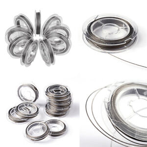 2 3 or 4 Rolls of 10m Stainless Steel 0.45mm Tiger Tail Beading Wire From £1.99