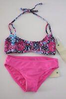 Roxy 14 Girls 2 Pc Bikini Swimsuit Altered Destination Pink Sugar Plum