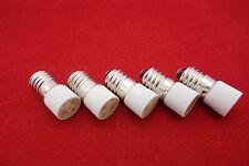 5PCS E10 LED BULB 6V AC/DC WHITE COLOR  Base Dia. 9mm