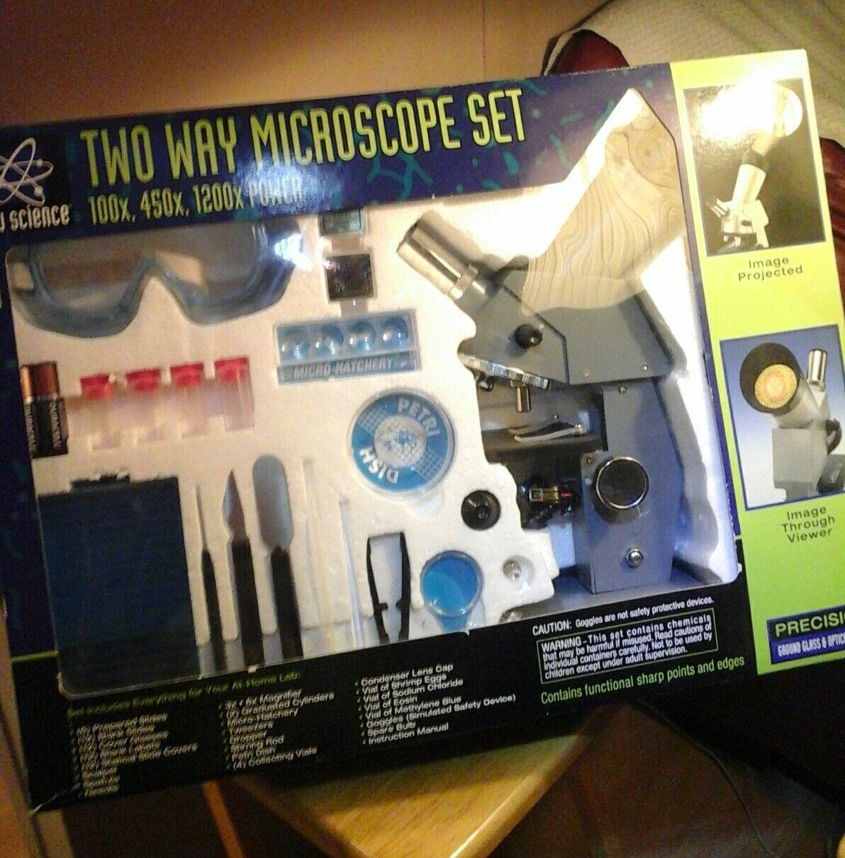Zwei - wege - mikroskop von edu wissenschaft in ausgezeichnetem zustand nicht