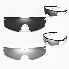 New Walleva Polarized Black + Titanium Lenses For Oakley M Frame Strike