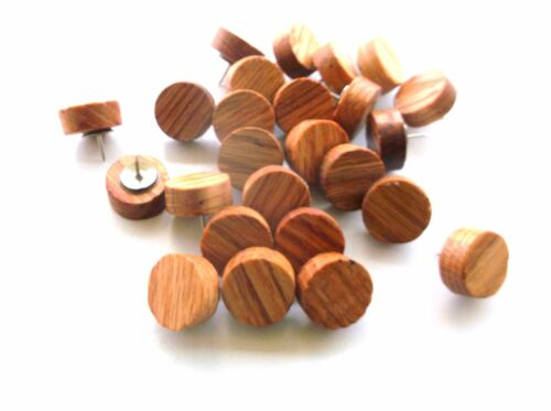 25 Round Wood Thumb Tacks or Push Pins for a Rustic Woodsy Decoration