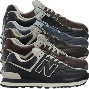 Details zu New Balance ML574 Leather Herren Vollleder Fashion Sneakers  Schuhe 3 Farben