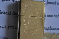 Metal Lighter Engraved I Love You To The Moon And Back fliptop 24K Gold Plated