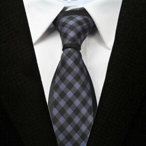 Blau Braun Und Silber Muster Handgefertigt 100% Seide Skinny Einfach Schwarz