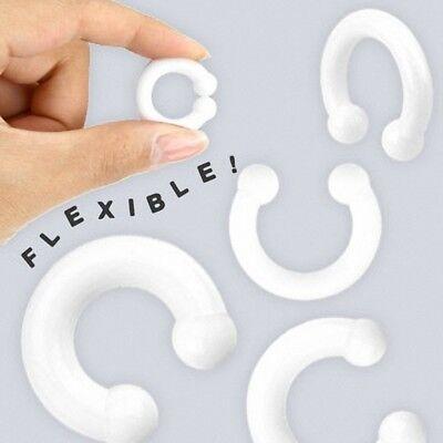 un piercing tunnel silicone flexible couleur blanc taille de 3 mm à 10 mm
