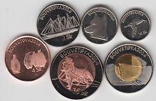 BOUVET island, Set 6pcs 2014, two bimetals, unusual coinage