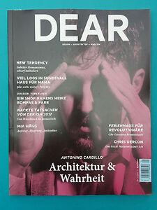 Architektur Magazin dear design architektur magazin nr 1 2017 ungelesen 1a absolut