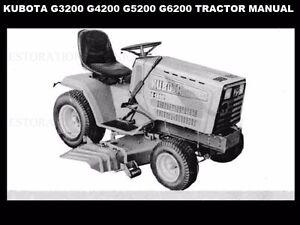 Astounding Kubota G3200 G4200 G5200 G6200 Tractor Manual W G 3200 4200 5200 Wiring Digital Resources Hutpapmognl