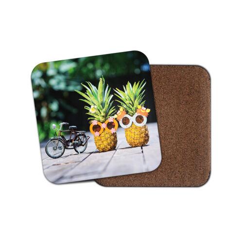 Drôle d/'ananas Coaster-Vélo Fruit Funky lunettes de soleil été cadeau #12702
