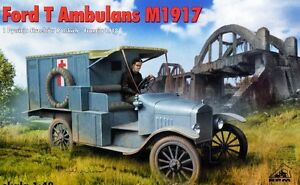 FORD-T-AMBULANCE-FRANCAISE-amp-POLONAISE-DECORATION-1-72-RPM-EDITION-LIMITEE