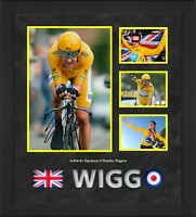 BRADLEY WIGGINS HAND SIGNED FRAMED PHOTO TOUR DE FRANCE WINNER VERY RARE.