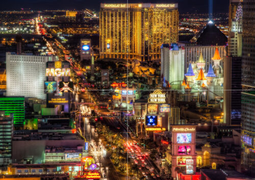 """LAS VEGAS BOULEVARD NEW GIANT LARGE ART PRINT POSTER PICTURE WALL 33.1/""""x23.4/"""""""