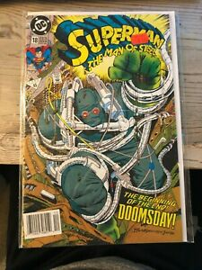 SUPERMAN-THE-MAN-OF-STEEL-18-1992-1st-Doomsday-1st-Print-NM-FREE-SHIPPING