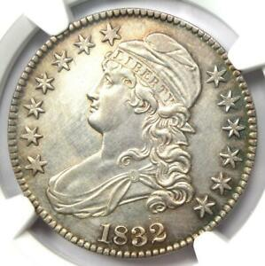 1832 Capped Bust Half Dollar 50C Coin - NGC Uncirculated Details (MS UNC)
