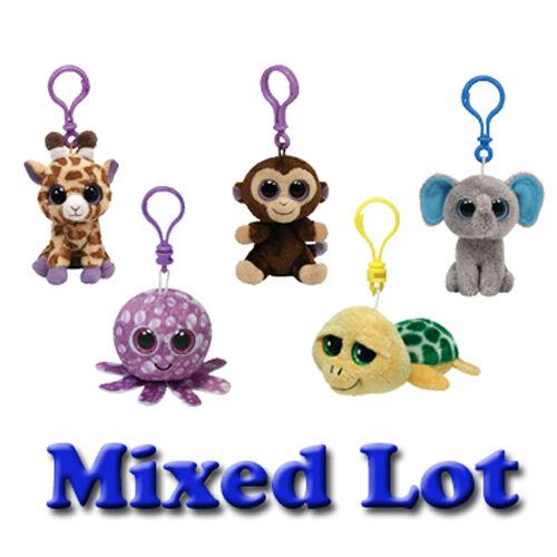 - New Plastic Key Clips - 3 inch TY Beanie Boos Bulk Mixed Lot of 5 Random