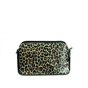f1ec6da8cdb6 Details about Ladies Italian Leather Leopard Print Saddle Bag Shoulder Bag  Clutch Bag MLE-1046