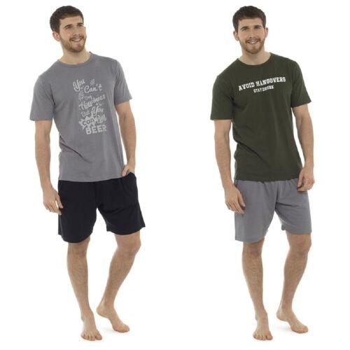 Homme Slogan Imprimé Shorts Lounge//PJ Set ~ bière//STAY DRUNK//éviter la gueule de bois