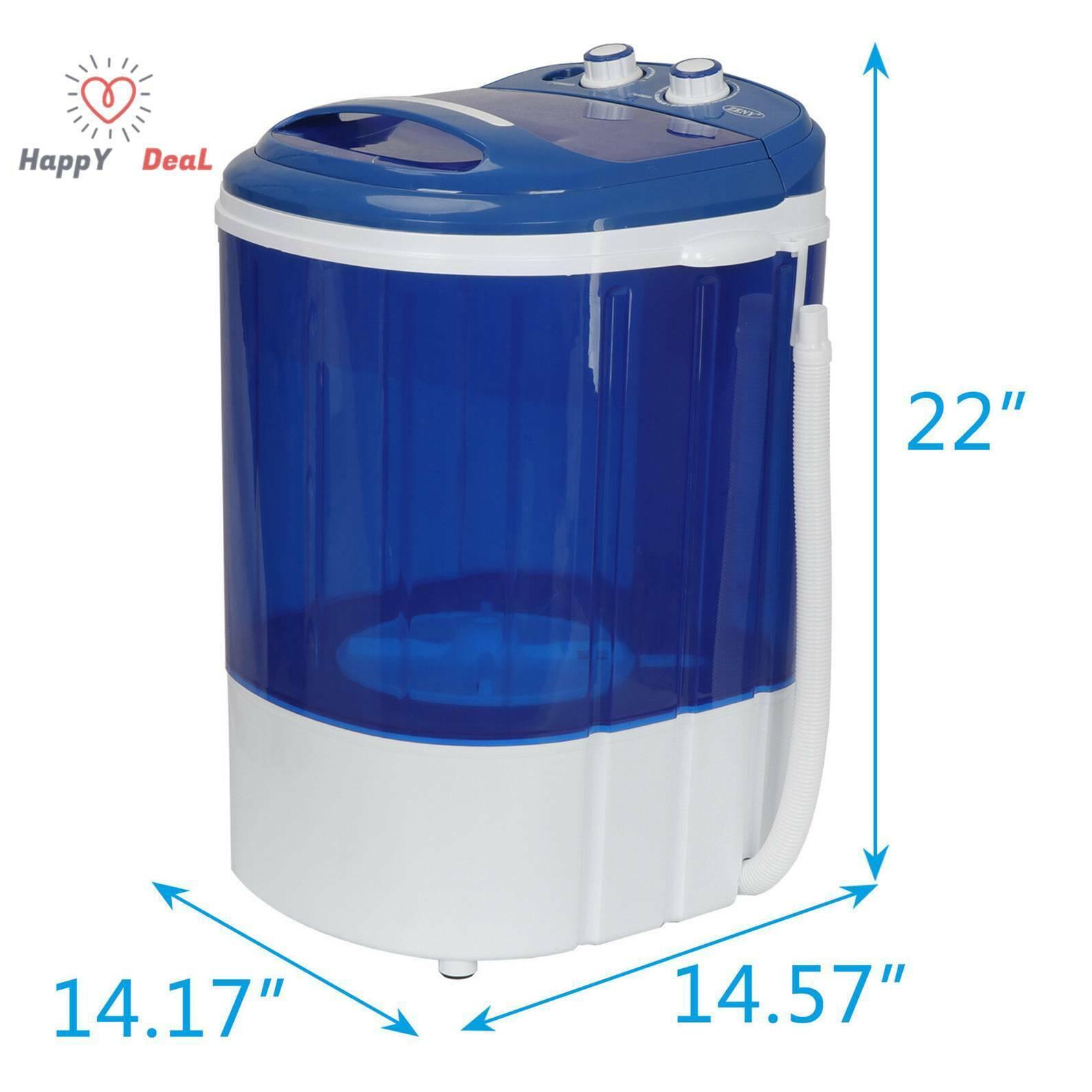 9 Lbs Portable Mini Washing Machine Compact Washer Spin