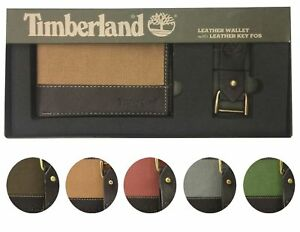 06aa3b98c97b Timberland Men s Leather Credit Card ID Bifold Wallet With Key Fob ...