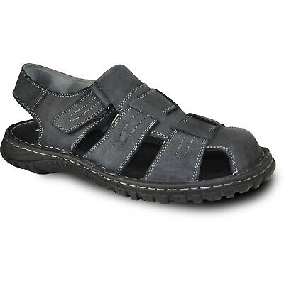 KOZI New Men Leather Sandal NEW DIEGO-07 with Adjustable Strappy Details