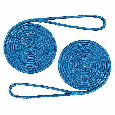 Boat Dock lines 1//2 Inch 15 FT Double Braid Nylon White Water Sports US Hot !