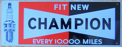 Champion Spark plugs Car  Motorcycle  Metal Sign/poster