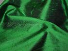 Green Iridescent Pure Dupioni Silk raw silk fabric for wedding dresses