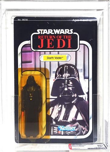 Star Wars Kenner cardada Regreso del Jedi 77 Back-una autoridad de Darth Vader Figura De Acción 80+Y