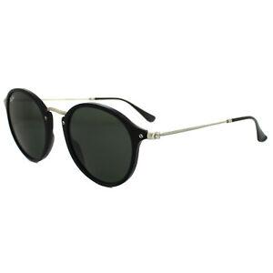 c7e4f2360d2a0 Image is loading Ray-Ban-Sunglasses-Round-Fleck-2447-901-Black-