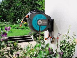 gardena wand schlauchbox roll up automatic 15m 25m 35m ebay. Black Bedroom Furniture Sets. Home Design Ideas