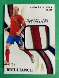 2020 Immaculate Sapphire Brilliance Patch Andres Iniesta Spain #6/25 (Jersey #6)