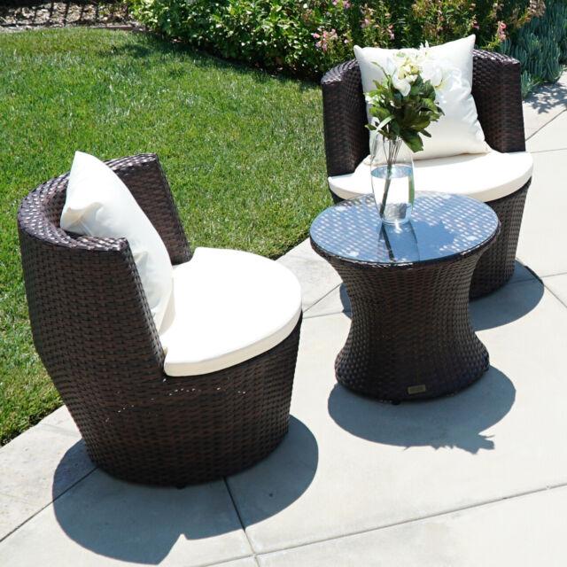 Sofa Set Outdoor Aluminum Wicker Glass Fabric Furniture Chairs
