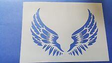 Schablone 331 Flügel Tattoo Möbel Leinwand Textilgestaltung Airbrush Vogel Engel