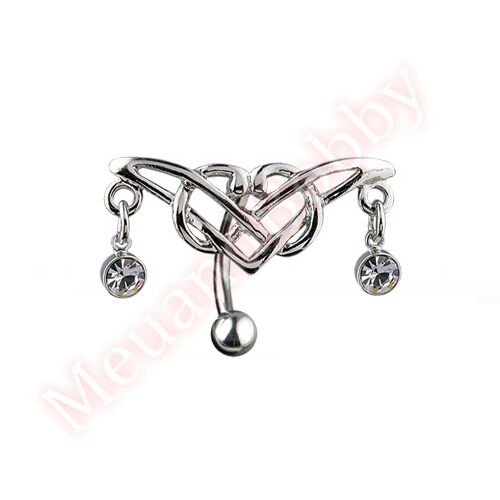 Tribal Wing Reverse Belly Button Bar Ring Navel Barbell Body Piercing Jewellery