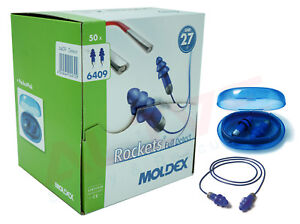 ROCKET Ear Plugs With Cord Reusable Ear Protection Washable Air Cushioned