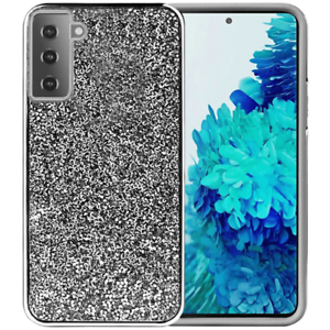 """For Samsung S21 6.3"""" Deluxe Glitter Diamond Electroplated TPU Hybrid Case Cover"""