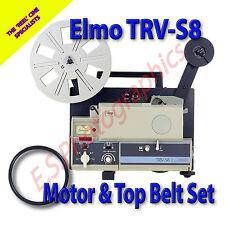 ELMO TRV-S8 SUPER 8mm transvideo VIDEOPROIETTORE Cinture Set di 2