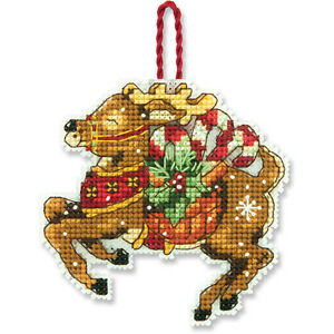 Counted-Cross-Stitch-Kit-REINDEER-ORNAMENT-Susan-Winget