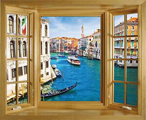 Sticker Trompe Loeil Fenêtre Venise 85x70cm Réf 233 Ebay